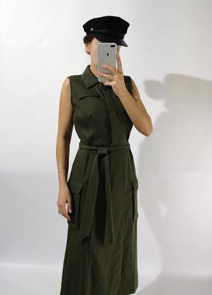 Платье из плотной ткани1