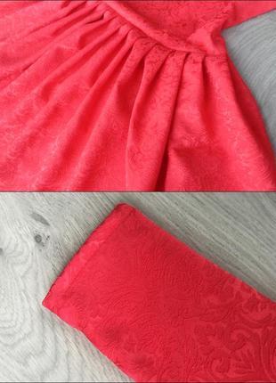Нарядное красное платье (все размеры и расцветки)4