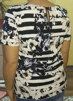 Блуза с коротким рукавом в цветы2