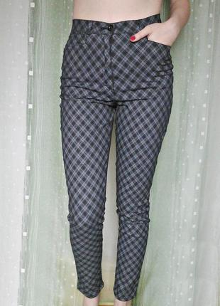 Бомбезные стрейчевые штаны с посадкой на талии, 95% хлопка2