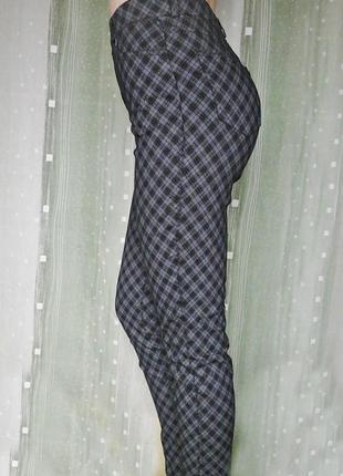 Бомбезные стрейчевые штаны с посадкой на талии, 95% хлопка3