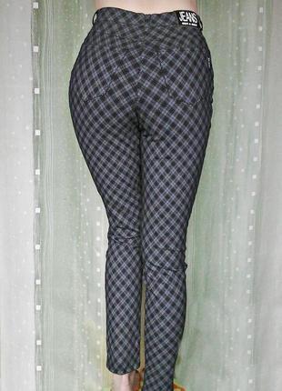 Бомбезные стрейчевые штаны с посадкой на талии, 95% хлопка4