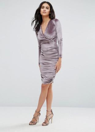 Велюровое платье club l