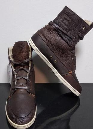 Кожаные зимние ботинки hub