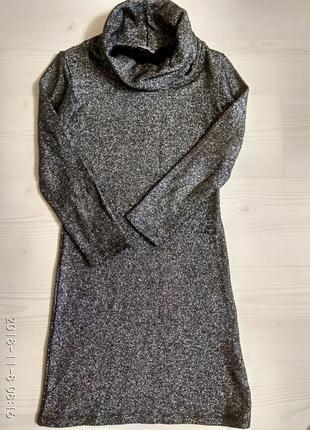Платье серебряное стрейч1