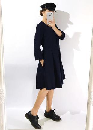 Качественное стильное платье из плотной ткани2