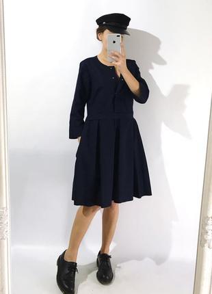 Качественное стильное платье из плотной ткани1