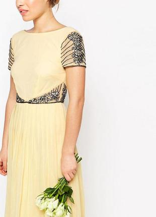 Платье макси с отделкой на талии maya petite3