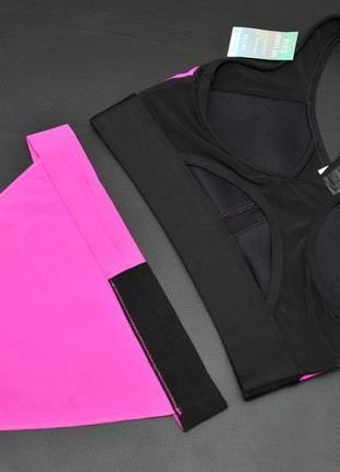 Шикарний спортивний комплект pink sports від від victoria's secret. xs/s2