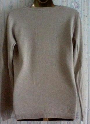 Кашемировый с шелком свитер джемпер, разм.46-483