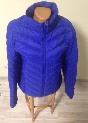 Куртка пуховая 38-40 р германия синий - васильковый цвет