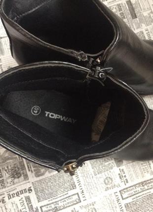 Классные полусапоги ботинки topway 40 р3