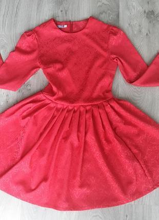 Нарядное красное платье (все размеры и расцветки)2