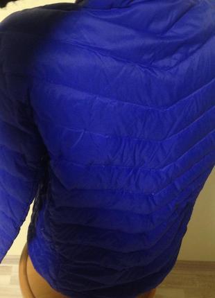 Куртка пуховая 38-40 р германия синий - васильковый цвет2