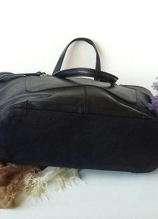 Большая сумка шопер h&m, швеция, натуральная кожа4