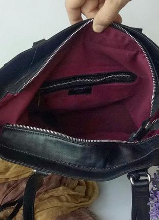 Большая сумка шопер h&m, швеция, натуральная кожа5