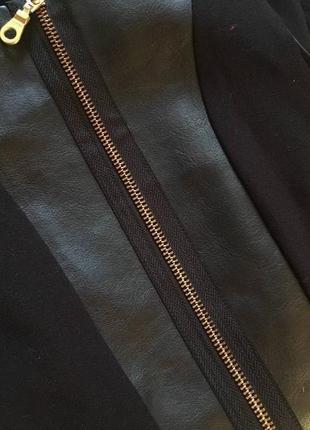 Супер крутое платье с «кожаной» вставкой, new look, размер 83