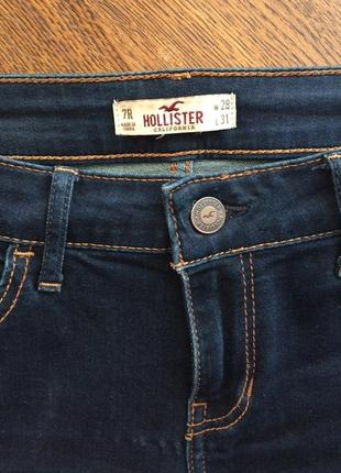 Темно-синие джинсы-скинни hollister оригинал2