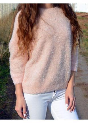 Нежный свитерок с люрексом