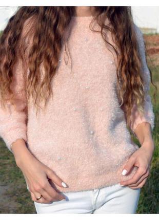 Нежный свитерок с люрексом3