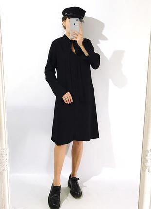 Стильное платье.своьодного кроя из плотной ткани2