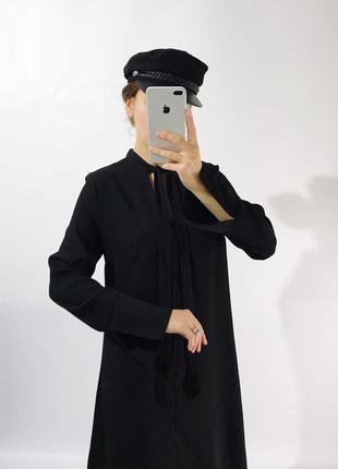 Стильное платье.своьодного кроя из плотной ткани3