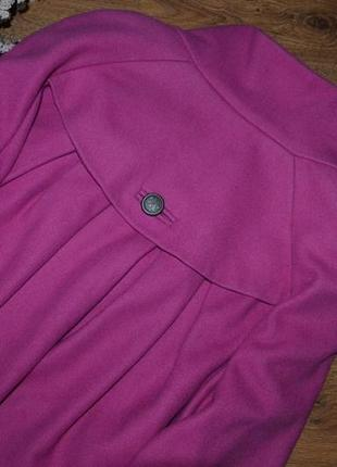 Пальто осеннее шерстяное wallis кокон оверсайз м 10 38 италия3