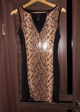 Платье в паетки1