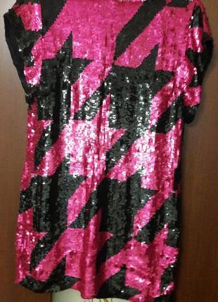 Яркое платье в паетках.2
