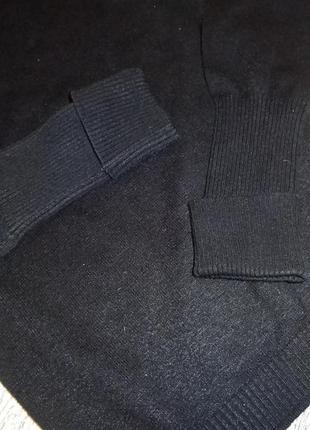 Черный теплый гольф-свитер yessica-s5