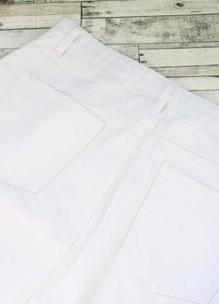 Шикарная белая джинсовая юбка с вышивкой glamorous2