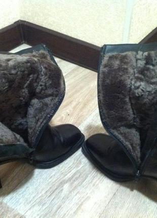 Зимние кожаные сапоги  * полусапожки ботинки*  design by italy1