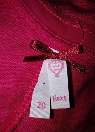 Платье-туника с удлинением сзади next размер uk 20 eur 48 морокко4
