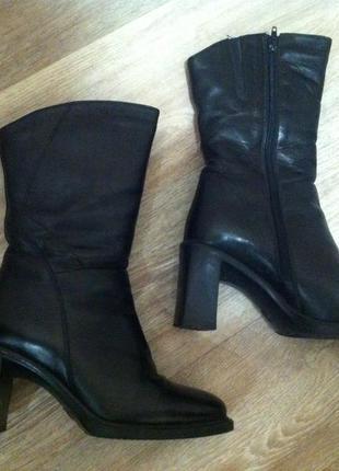 Зимние кожаные сапоги  * полусапожки ботинки*  design by italy2