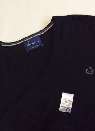 Новый свитер fred perry оригинал 100% шерсть размер m