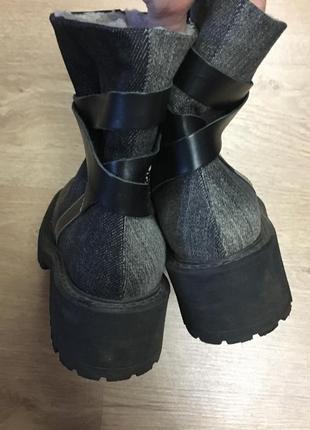 Ботинки сапоги кожа набивная овчина размер 373