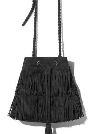 Трендовая сумка кросс боди с бахрамой от h&m1