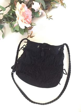 Трендовая сумка кросс боди с бахрамой от h&m2