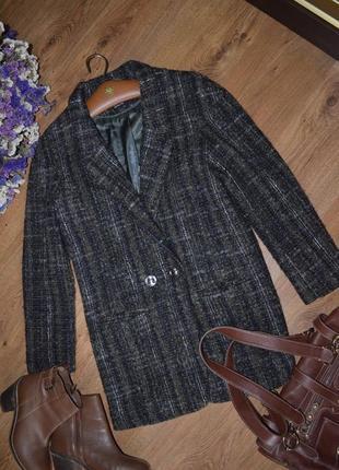 Пальто осеннее шерстяное donna кокон оверсайз s 8 36 италия1