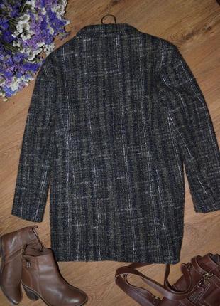 Пальто осеннее шерстяное donna кокон оверсайз s 8 36 италия5