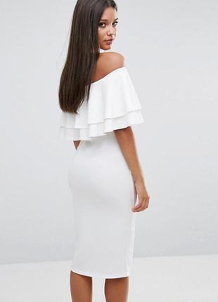 Ліквідація товару до 29 грудня 2018 !!! платье миди с двойной оборкой club l3