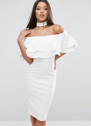 Ліквідація товару до 29 грудня 2018 !!! платье миди с двойной оборкой club l2