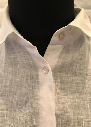 Белая блуза  рубашка massimo dutti4