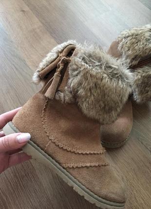 Замшевые сапоги ботинки next