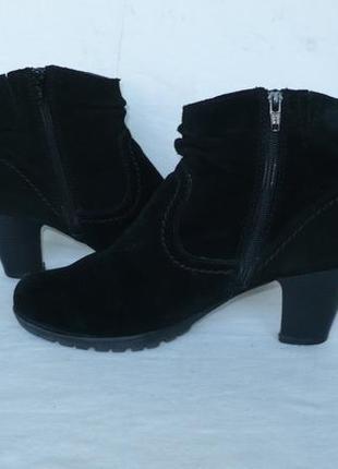Jana тёплые мягкие удобные полусапожки сапоги ботинки натуральная замша германия3