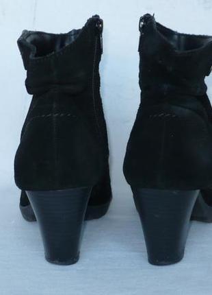 Jana тёплые мягкие удобные полусапожки сапоги ботинки натуральная замша германия4