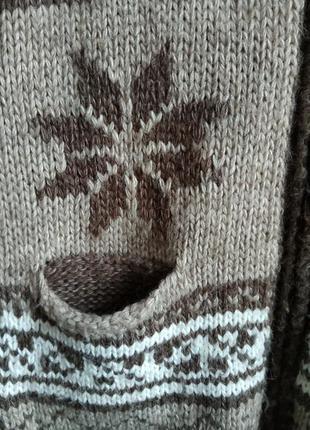Теплая жилетка с капюшоном , шерсть, турция3
