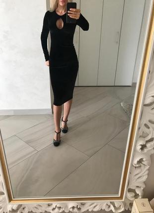 Велюровое платье nasty gal.1