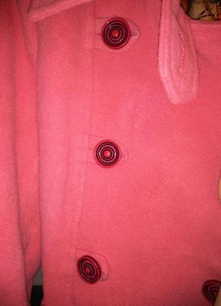Пальто розовое нежное2