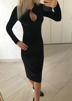 Велюровое платье nasty gal.2